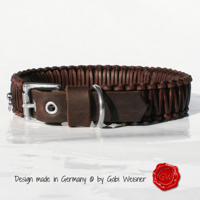 Hundehalsband-4cm-breit-braun