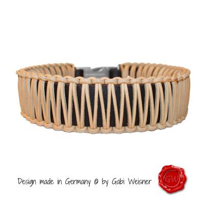 Hundehalsband-Leder-natur-5cm-breit-1