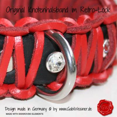 Lederhalsband-Hundehalsband-rot-Swarovski-1