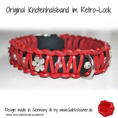 Lederhalsband-Hundehalsband-rot-Swarovski-2