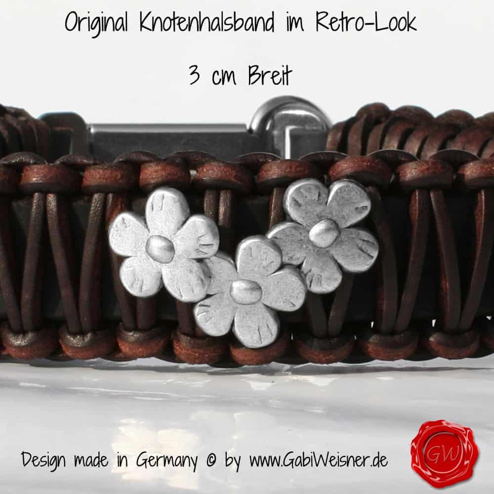 Lederhalsband-mit-Blümchen-3-cm-Breit-mit-SPRENGER-KLICK-2