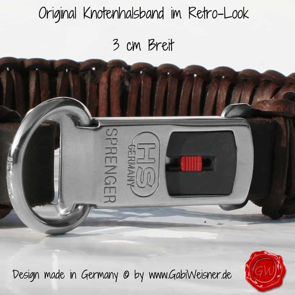 Lederhalsband-mit-Blümchen-3-cm-Breit-mit-SPRENGER-KLICK-3