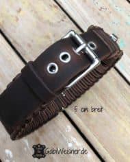 Hundehalsband-Leder-5-cm-breit