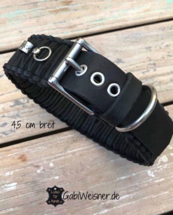 Hundehalsband Leder verstellbar 4,5 cm breit für große Hunde