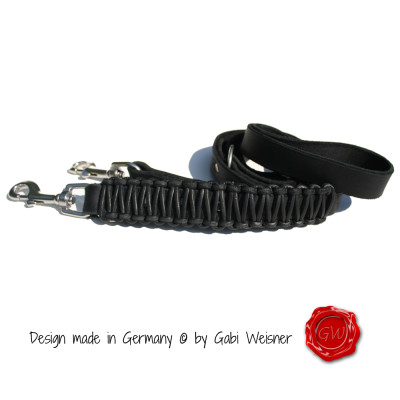 Hundeleine-verstellbar-Vollrindleder-2,5cm-breit