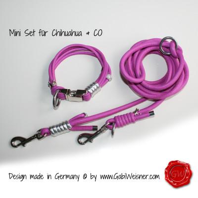 Mini Hundehalsband Set in Pink