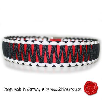 Schwimmhalsband rot weß schwarz