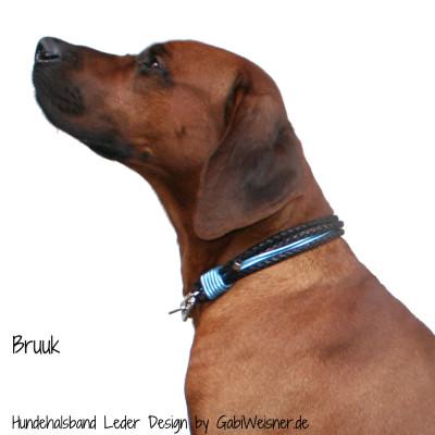 Hundehalsband-Leder-5-reihig-gabiweisner-Bruuk-2
