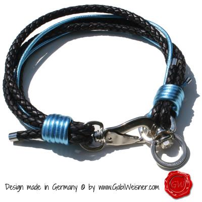 Lederhalsband 5-reihig