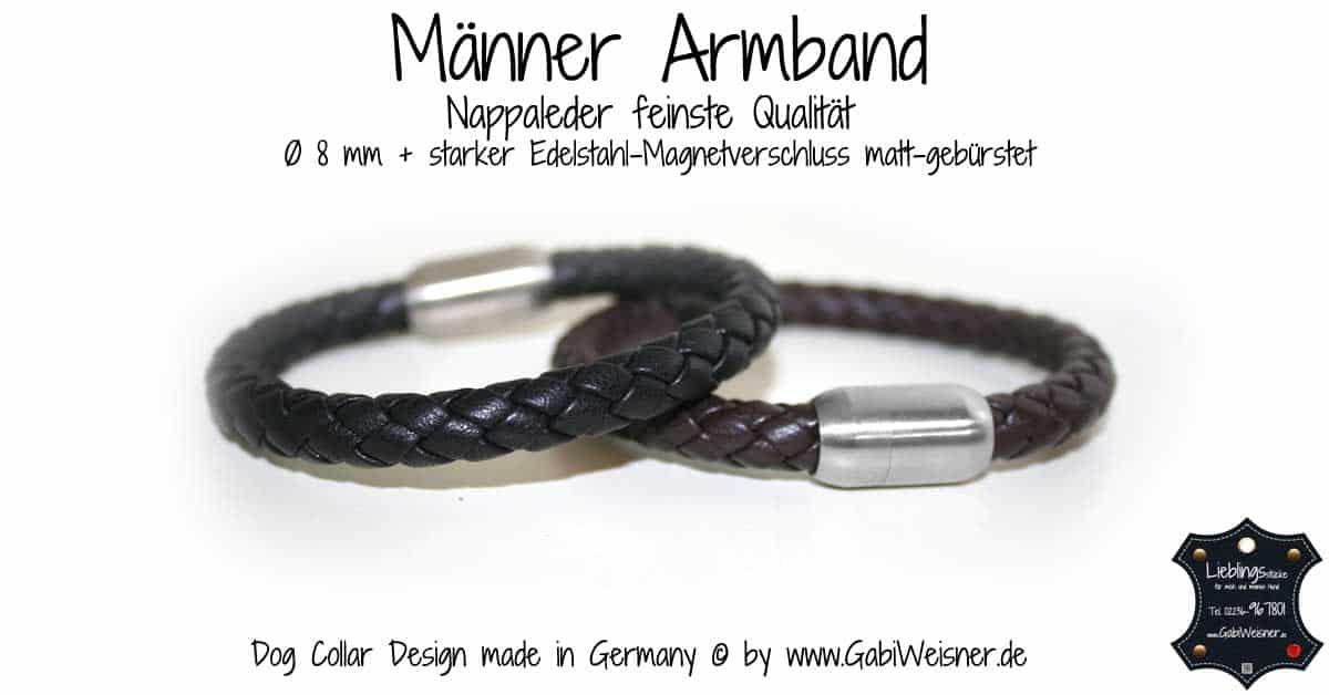 Männer-Armband-Nappaleder-feinste-Qualität–Ø-8-mm-+-starker-Edelstahl-Magnetverschluss-matt-gebürstet