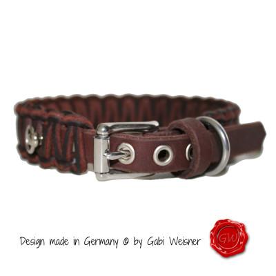 Hundehalsband-Leder-2,5cm-breit