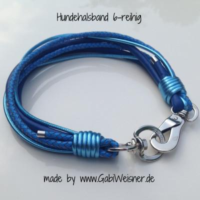 Hundehalsband-6-reihig-BLAU