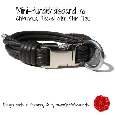 Hundehalsband-aus-Nappaleder-geflochten-braun-Gabi-Weisner-2