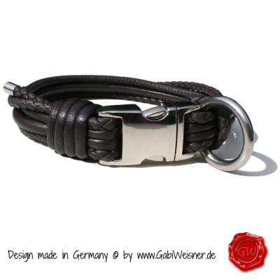 Hundehalsband-aus-Nappaleder-geflochten-braun-Gabi-Weisner