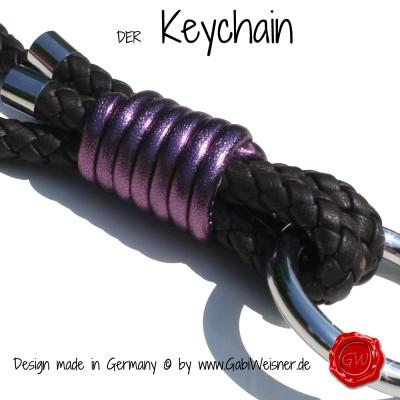 Keychain-exklusiv-nappaleder-rund-geflochten