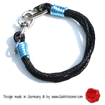 4-reihig-Rindleder-schwarz-+-Nappaleder-hellblau