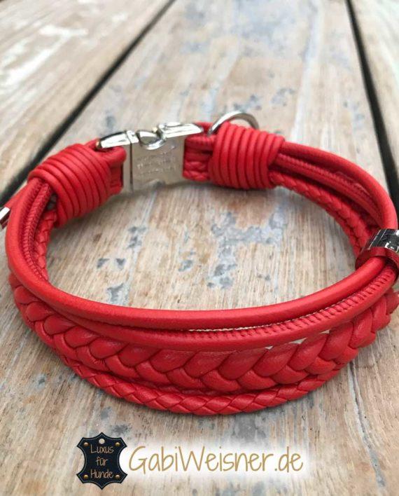 Mini Halsband Leder jede Farbe