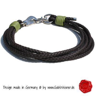 Lederhalsband-Nappaleder-4-reihig-für-Große-Hunde