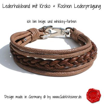 Lederhalsband-mit-Kroko-+-Rochen-Lederprägung-60