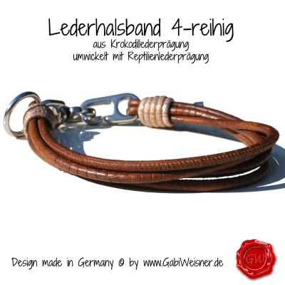 Lederhalsband-4-reihig-Krokodillederprägung-2