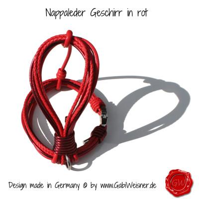 Nappleder-Geschirr-rot-4