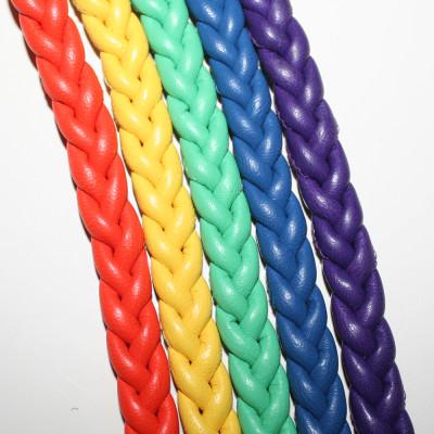 Regenbogen-Hundehalsband-Nappaleder-5-reihig-1