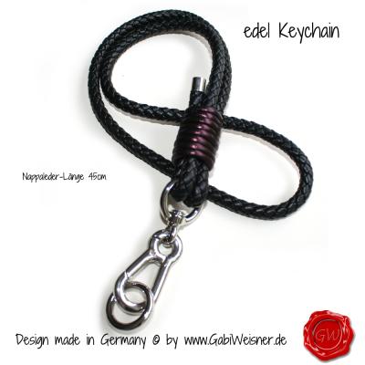 Keychain-ø8mm-Nappaleder-45cm