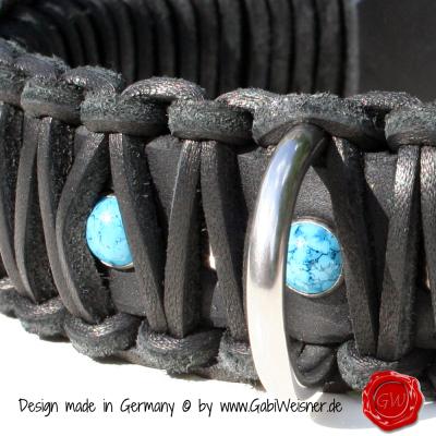 Original-Knotenhalsband-im-Retro-Look-4cm-breit-schwarz