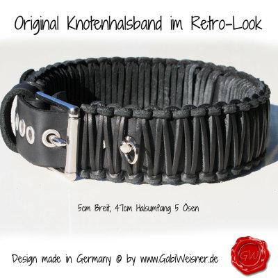 Original-Knotenhalsband-BULLDOGGE-WILLI-7-MONATE-HB-5cm-Breit-HU-47cm-5-Ösen-1