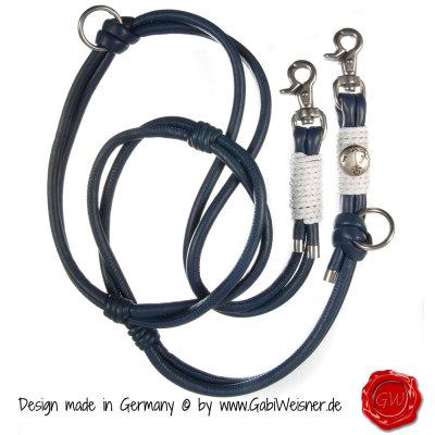 3-fach-verstellbare-Lederleine-im-marine-Look-1