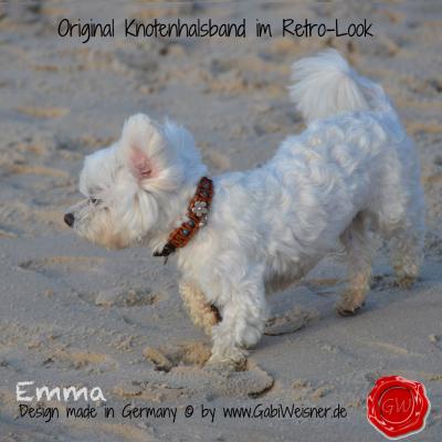 Lederhalsband-kleine-Hunde-türkise-mit-Blumen-emma-2