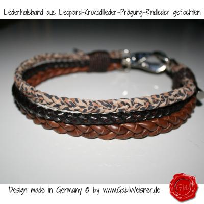 Lederhalsband-aus-Leopard-Krokodilleder-Prägung-Rindleder-geflochten-1