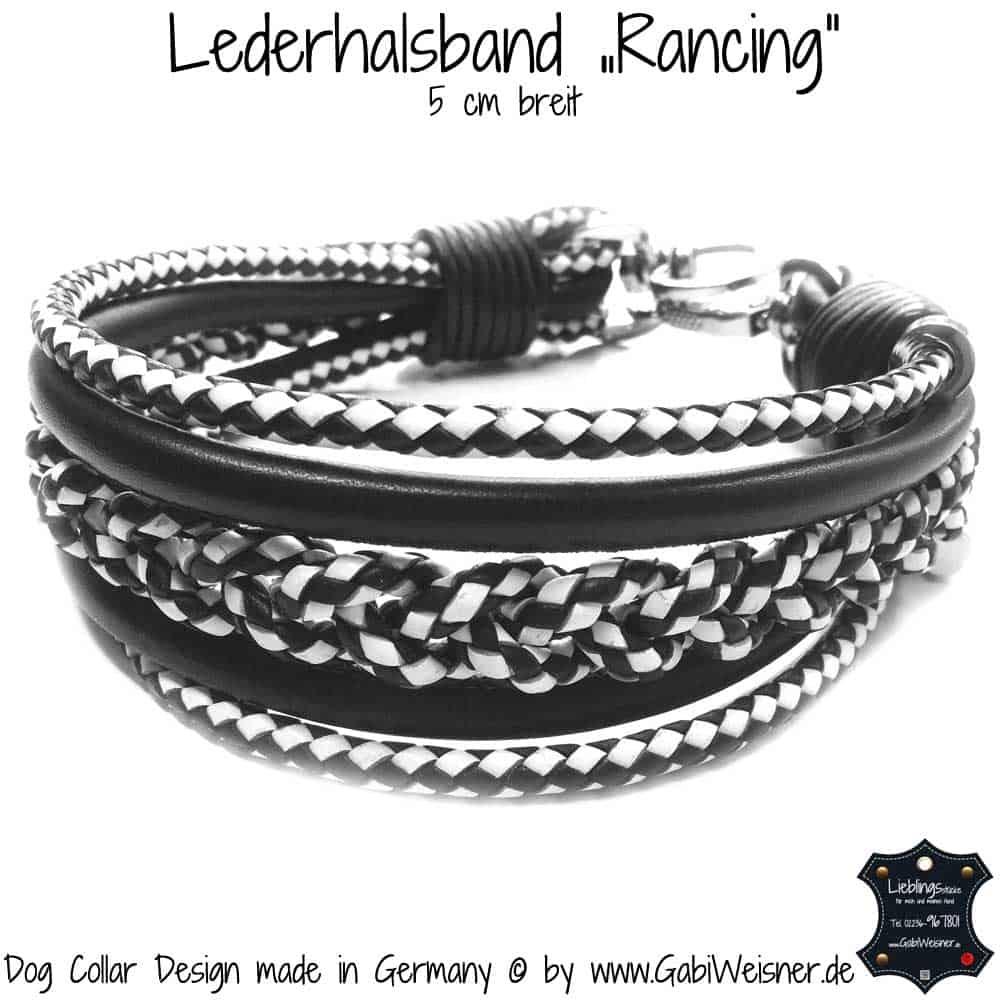 "Lederhalsband-""Rancing""-5-cm-breit–"