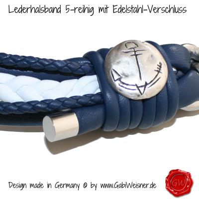 Lederhalsband-5-reihig-mit-Edelstahl-Verschluss-2