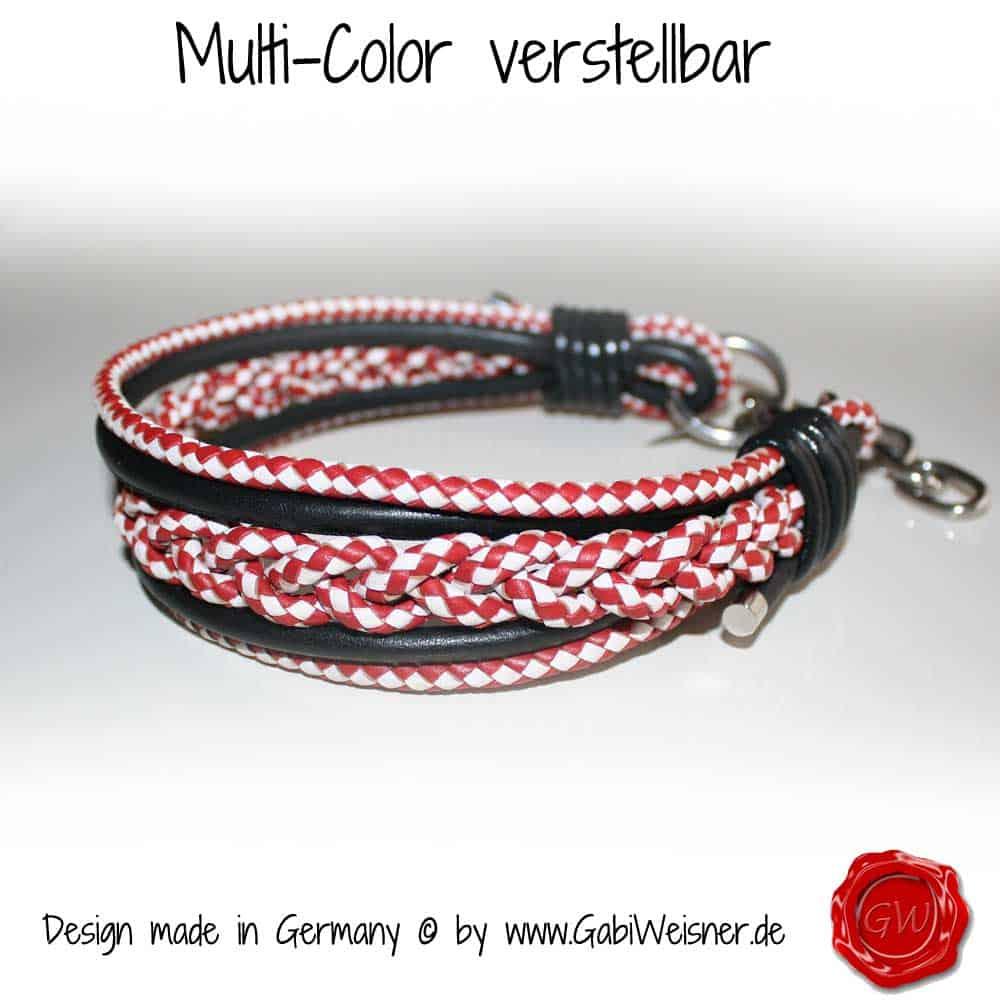 Multi-Color-rot-weiß-schwarz-verstellbar