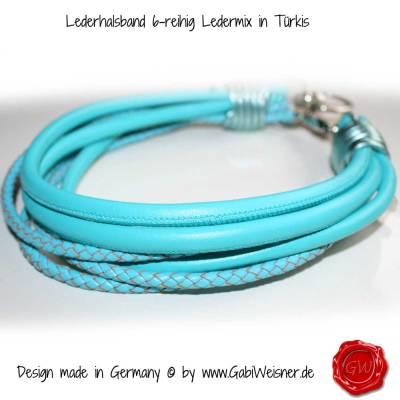 Lederhalsband-6-reihig-Ledermix-in-Türkis-3