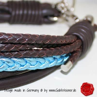 Hundehalsband Ledermix 2