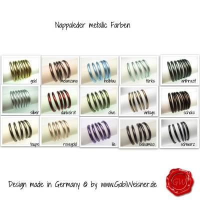 Nappaleder-metallic-Farben