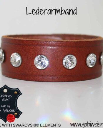 Lederarmband made with Swarovski Elements