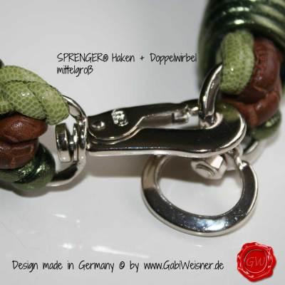 Hundehalsband-Lederhalsband-3-Zöpfe-Kroko-Echse-Nappa-grün-2