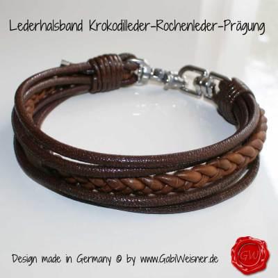 Lederhalsband-Kroko-Rochen-braun-3