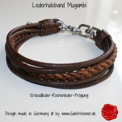 Lederhalsband Mugambi-1