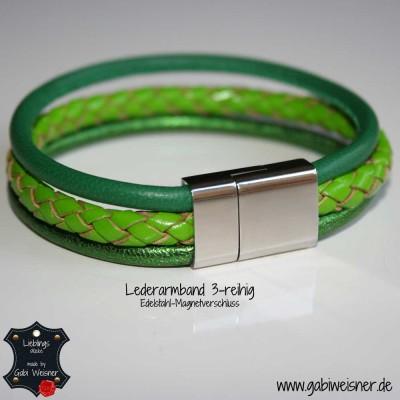 Lederarmband-3-reihig-grün-