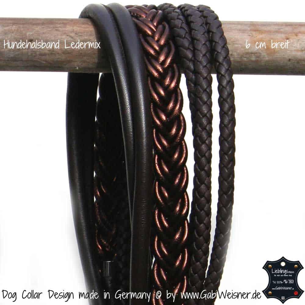 Hundehalsband-Ledermix-Schokobraun-6-cm-breit-4