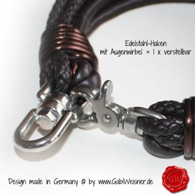 Hundehalsband-Ledermix-Schokomix-4