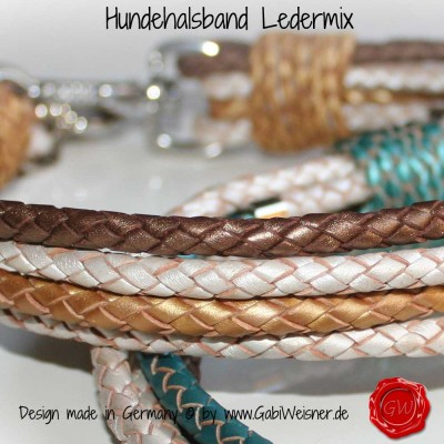 Hundehalsband-Rindleder-metallic-geflochten-1