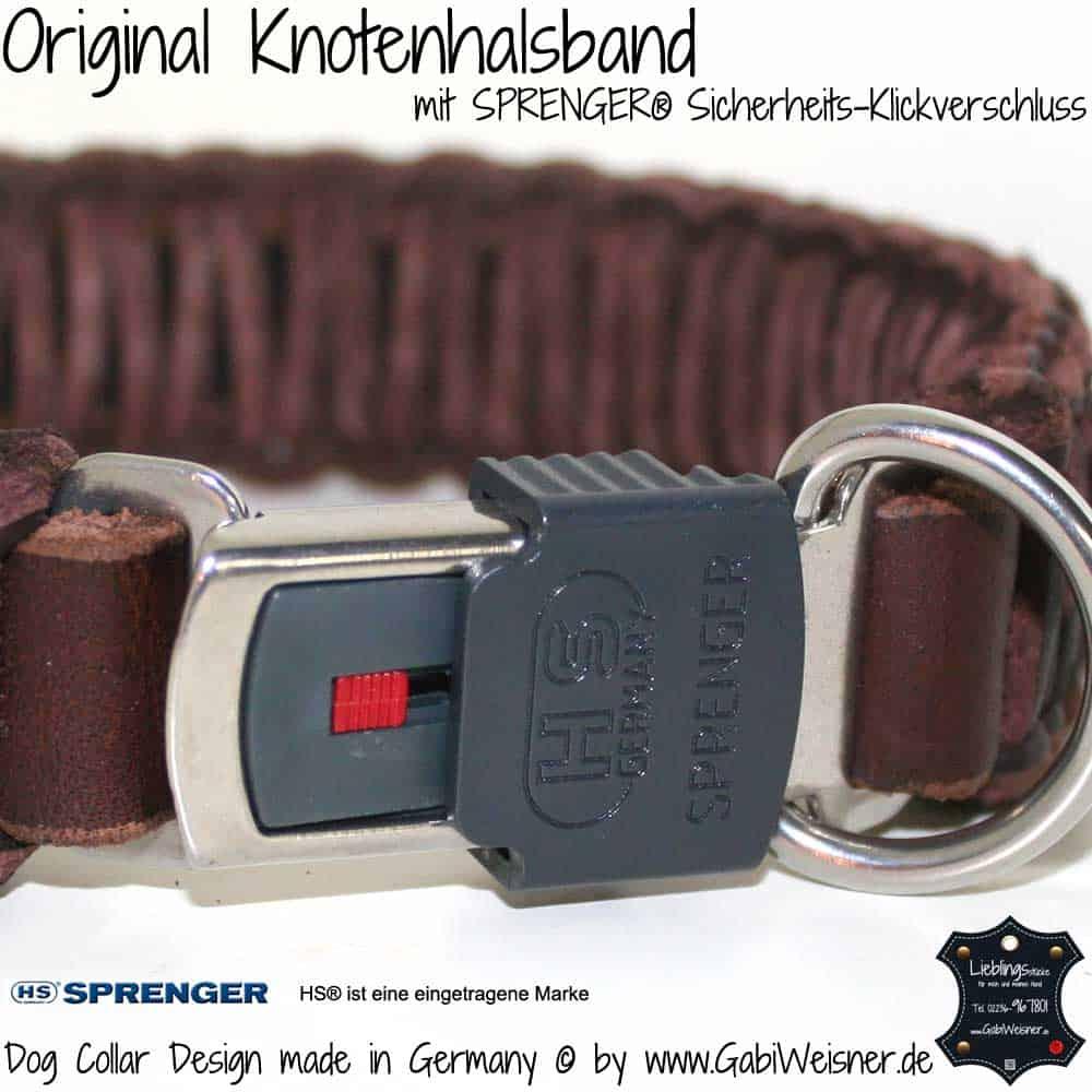 Original-Knotenhalsband-mit-Sicherheits-Klickverschluss