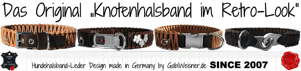 Original Knotenhalsband im Retro-Look Design by Gabi Weisner SINCE 2007