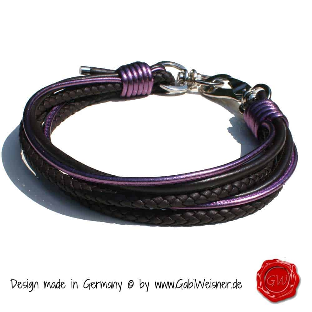 Hundehalsband-Leder-Mix-Ridgeback-lila-1
