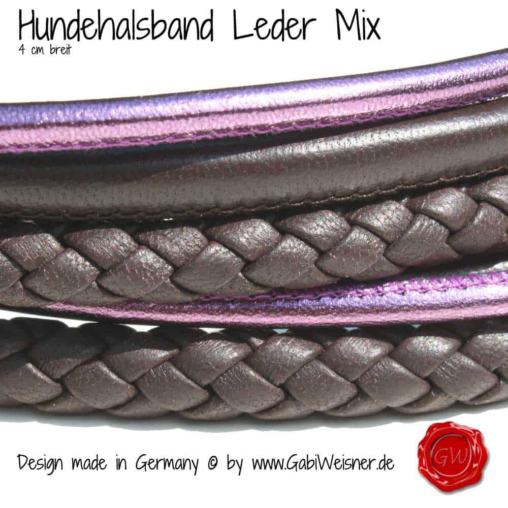 Lederhalsband-exklusiv-nappaleder-6-reihig-Ridgeback-lila